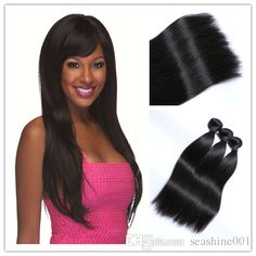 big discount virgin brazilian hair extensions straight hair weaves unprocessed brazilian hair wefts natural color double wefts free shipping from seashine001 can help your hairs look thicker. best wet and wavy human hair weave are made of human hairs. Using best hair weave for black women and best quality hair weave can make you feel more confident.