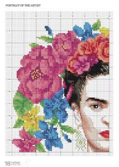 Gallery.ru / Фото #16 - CrossStitcher №334 2018 - Chispitas Cross Stitch Gallery, Modern Cross Stitch, Cross Stitch Patterns, Tapestry Crochet, Felt Embroidery, Cross Stitch Embroidery, Pixel Crochet, Vintage Cross Stitches, Cross Stitch Boards