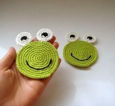 Frog coasters (set of 2) all natural - eco friendly. $10.00, via Etsy.