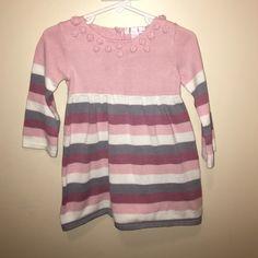 Jillian's Closet, 18 mos., Sweater Dress Little girls sweater dress. Mauve, pink, grey and white. Very good condition. Jillian's Closet Dresses Long Sleeve