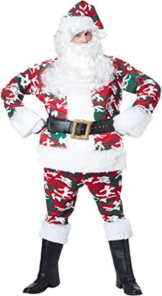 California Costume Collection - Camoflage Santa Adult Costume - Costumes - Available in sizes - Large/X-Large Green Santa, Green Christmas, Red Green, Xmas, Cool Costumes, Adult Costumes, Female Costumes, Fantasy Costumes, Costume Ideas