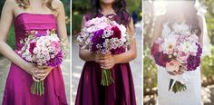 Purple and Pink wedding flowers    Photos by: Marianne Wilson Photography