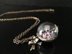 """Ketten lang - Kette mit echten Lavendel """"Schleife"""" - ein Designerstück von Simsalabim-SabrinaW bei DaWanda"""