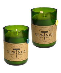 Wine Candles?!  Are they edible??  Lol Chardonnay & Riesling Candle Set on #zulily! #zulilyfinds