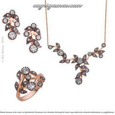 Gümüş Sarmaşık Rose Set Takı «Midyat Çağrı Gümüş Takı Online Telkari Gümüş Satış Sitesi Mardin