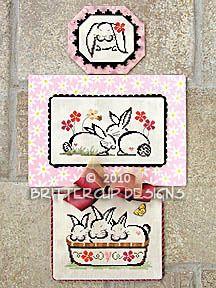 Bunnies Galore - Cross Stitch Pattern  by Brittercup Designs