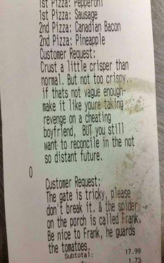Funny Customer Request
