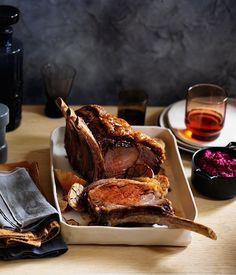 Beef rib roast with beetroot and horseradish recipe :: Gourmet Traveller