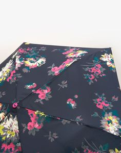 Brolly French Navy Floral Umbrella , Size One Size | Joules UK