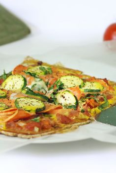 Dairy-Free Zucchini and Yam Thin Crust Pizza