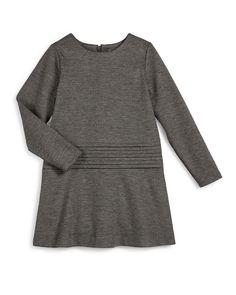 Long-Sleeve Knit Cummerbund Shift Dress, Carbon, Size S-XL, Women's, Size: X-LARGE, H Carbon - Vince