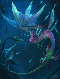 Faerie Dragon by Carolina-Eade on DeviantArt - Drachen - Art Sketches Mythical Creatures Art, Mythological Creatures, Magical Creatures, Beautiful Creatures, Night Creatures, Creature Concept Art, Creature Design, Fantasy Kunst, Dragon Artwork