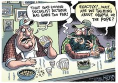 Keystone Progress Daily Funnies: Rob Rogers, October 17, 2014 | Just like the teanuts. They have no idea who they're hating at any given time; they just hate.