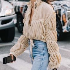 Strukturierte Bluse - New Site Looks Street Style, Looks Style, Style Me, Mode Outfits, Fashion Outfits, Womens Fashion, Fashion Trends, Fashion Jobs, Travel Outfits