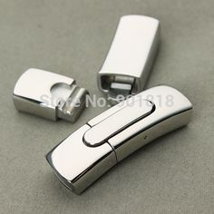 stainless steel Clasps 1pc/lot For Flat Leather Cord Bracelet Jewelry DIY Findings F2272