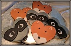 Raccoon and Fox Cookies Custom Cookies by Cousin's Creations - Cousin's Creations