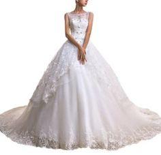 Elegant Strap Ball Gown Princess Bride Wedding Dress