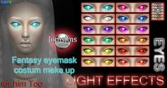 Light effect eyes mask at Jomsims Creations • Sims 4 Updates