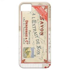 Vintage French Collage Cover For iPhone 5/5S