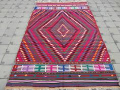 Real Vintage Antique Handmade Turkish Kilim Rugs and Pillows from KilimRugAvenue Turkish Kilim Rugs, Vintage Antiques, Bohemian Rug, Diet, Free Shipping, Pillows, Recipe, Medium, Healthy