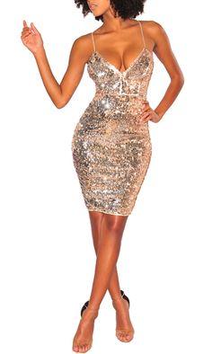 92afdb4a19be Mini abito vestito corto da donna sexy paillettes sera festa party strass  ballo