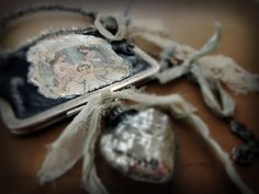 One of the Christmas Ornaments designed for Deryn Mentock's Christmas Ornament Exchange....2014! A vintage coin purse.