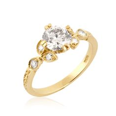 Bold & Beautiful Diamond Engagement Ring, 14k Gold