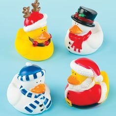 Funky Christmas Ducks Perfect Stocking Filler for Children Pack of 4 -- Click on the image for additional details.