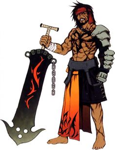 View an image titled 'Jecht Art' in our Final Fantasy X art gallery featuring official character designs, concept art, and promo pictures. Final Fantasy Collection, Final Fantasy 3, Final Fantasy Characters, Fantasy Series, Fantasy Art, Game Character Design, Character Concept, Character Art, Concept Art