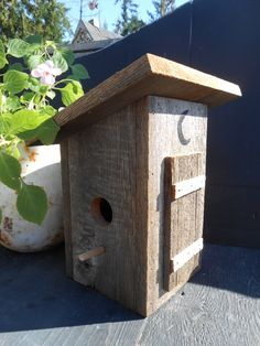Outhouse Birdhouse, Barn Wood Bird House, Reclaimed Wood Father's Day
