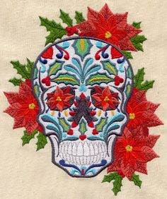 Such edgy, creative stuff from urban threads.  An idependent subsidiary (as i understand it) of Embroidery Library.  Christmas Calavera design (UT5394) from UrbanThreads.com