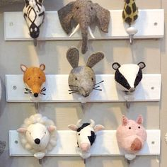 These are so gorgeous!  The kids will love them and they will encourage them to hang up their stuff!   Choose from the jungle, woodland, or farmland animal designs.