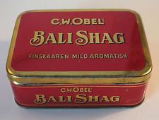Rare Early BALI SHAG Tobacco Tin