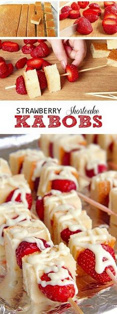 Strawberry kabobs