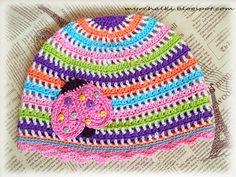 Мурчалки: Детская шапочка крючком. Схема.