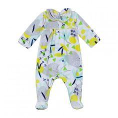Pyjama En Velours Imprimé lemon Catimini, 1M, Naissance Fille