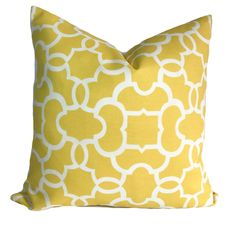 Outdoor cushion cover, 20x20, Patio cushions, Outdoor pillow cover, Outdoor throw pillows, Yellow outdoor pillow, Outdoor decorative pillow by PillowCorner on Etsy