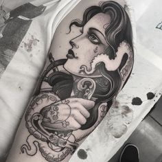 jeanleroux - Pirate girl Started today ... @thetallonco @blackgardentattoo…