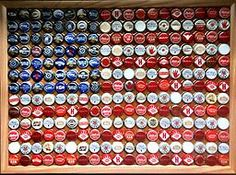 bottlecap american flag wall hanging  by: Leigh Silveira
