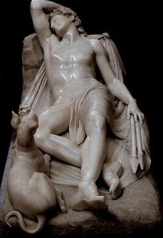 """Sleeping Endymion"" Antonio Canova -1819  Antonio Canova       1757-1822    Italian  Neoclassical  Sculptor and Painter of the Roman School"