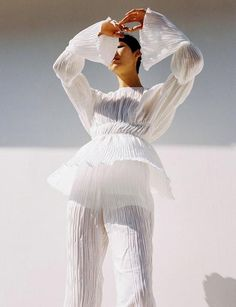 Mar 2020 - White wrinkled pleat, high neck top featuring peasant sleeves and elastic at the waist and elbows. Fashion Photography Inspiration, Photoshoot Inspiration, Editorial Photography, Style Inspiration, Photography Contract, Vintage Photography, Photography Props, Digital Photography, Wedding Photography