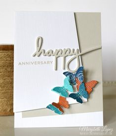 Bitty Butterfly Anniversary card for the Papertrey Ink Blog Hop marybethstimeforpaper.blogspot.com