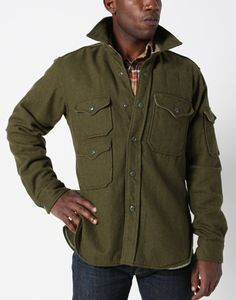 Engineered Garments FW12 CPO Shirt Olive Wool Flannel