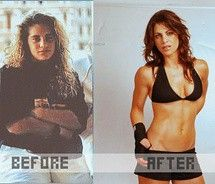 Before and After.  Amazing to see how Jillian looked before!