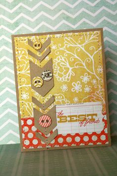 Love this broken chvron design for a page. TheBestoffriendsCard_MME0912
