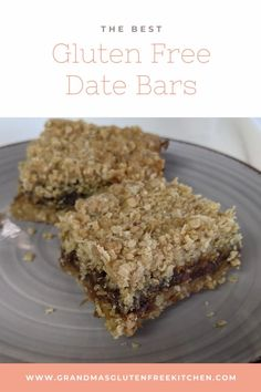 These Gluten Free Date Bars are a sweet treat. They are chewy, crunchy and a bit gooey but best of all they are full of flavor. #glutenfreedatebars #glutenfreedesserts #datebars #datebarsglutenfree Easy Gluten Free Desserts, Gluten Free Treats, Gluten Free Recipes, Quick Rolls, Gluten Free Kitchen, Pastry Blender, Original Recipe, Sweet Treats, Baking