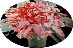 """Runder Teppich """"Manshu Flower"""" als besonderes Design-Highlight» Mischioff.de"""