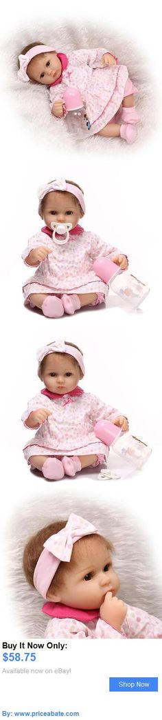 Dolls And Bears: 16 Realistic Silicone Vinyl Reborn Baby Girl Lovely Newborn Baby Doll   Clothes BUY IT NOW ONLY: $58.75 #priceabateDollsAndBears OR #priceabate