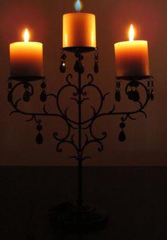 black candelabra pillar candle holder candleholder stand iron vintage style damask wedding decorations