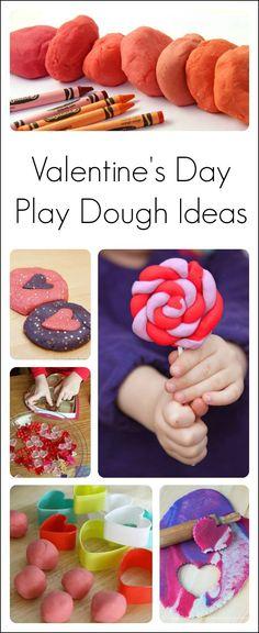 10 playdough activities for Valentine's Day #ValentinesDay #PlayDough #PreschoolActivities #Preschool #PreK #ECE #Kindergarten #PreschoolTeachers